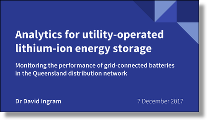 Analytics for utility-operated lithium-ion energy storage